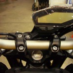 This pics shows the FZ09 Gauge in it's factory stock position.